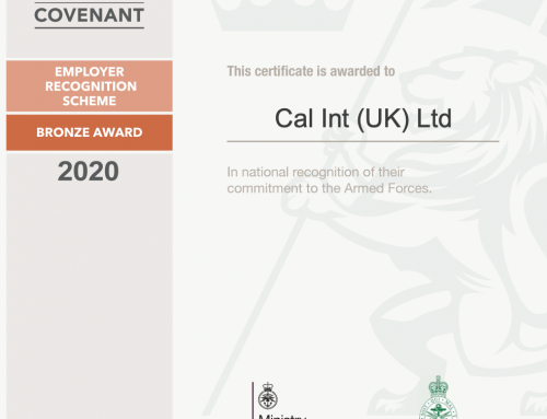 CAL International receive Armed Forces Covenant's Employer Recognition Scheme Bronze Award.